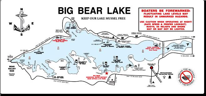 big bear lake map